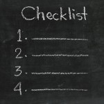 Ma checklist de la veille